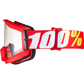 100% Strata Goggles, rood